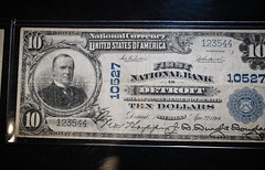 1914 US - First National Bank Detroit Michigan $10 note with William McKinley Portrait at Ford Piquette Avenue Plant Detroit MI (mbell1975) Tags: detroit michigan unitedstatesofamerica 1914 us first national bank 10 note with william mckinley portrait ford piquette avenue plant mi usa american america museum ave factory dollar dollars money bill bills currency old notes