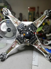 Wounded drone (Lim SK) Tags: dji drone phantom cell damage repair