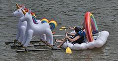 Water Chariot (Scott 97006) Tags: river water ride float unicorn cute fun