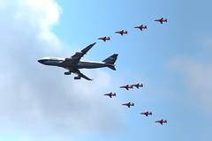 G-BYGC BOAC 747-400 (Liam Salt) Tags: gbygc boac ba british airways boeing 747 red arrows raf