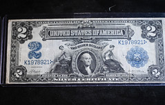 US $2 Silver note with George Washington Portrait at Ford Piquette Avenue Plant Detroit MI (mbell1975) Tags: detroit michigan unitedstatesofamerica us 2 silver note with george washington portrait ford piquette avenue plant mi usa american america museum ave factory dollar dollars money bill bills currency old notes