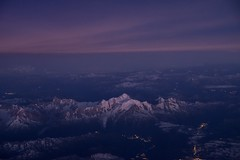 Early night above Mont Blanc (revedavion.com) Tags: infliger inflight pilot pilote above mountain montblanc mont blanc monte bianco night dusk dawn sky earth alpes alps alp