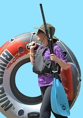 The Adventure Begins (Scott 97006) Tags: woman female lady doughnut inflatable paddle lifesaver aqua