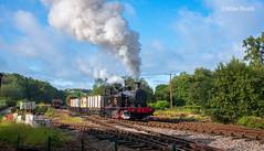 No.14 - Foxfield Railway - 30 July 2019-19 (Mike Heath Photo) Tags: foxfield railway steam train gala 3p20 parcels group charter carron no14 dilhorne colliery industrial staffordshire