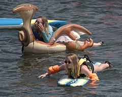 Summer Fun (Scott 97006) Tags: girls females ladies float water river sunshine blonde fun recreation