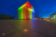 Rainbow colours (Alfonso Salgueiro | Photography) Tags: architecture kirchberg lgbti philhamonie lighting night summer luxembourg europe nightphotography