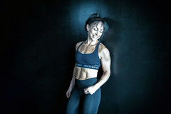 body builder (ABWphoto!) Tags: virginia one woman bodybuilder exercise inside naturallight portrait face abs healthylifestyle fitness