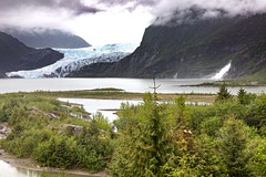 Mendenhall Glacier (2km away) and Lake, Juneau, Alaska. USA. (3.3 mil views - Thank you all.) Tags: juneau alaska unitedstatesofamerica mendenhall glacier ice lake staneastwood stanleyeastwood waterfall park