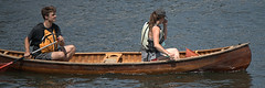 Canoeing (Scott 97006) Tags: canoe river water couple man guy lady woman female paddle wood