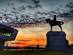 Merseyside at Sunset (pallab seth) Tags: liverpool architecture waterfront merseyside portcity heritage unescoworldheritagesite landscape cityscape evening england city summer tourism touristdestination mobilephotography sunset merseyferries