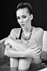 _Z1A2503a_pp_bw+grad_klein (Andreas.Gerull) Tags: model manuela sexy beauty beautiful girl woman female frau studio indoor blond monochrome bw blackwhite