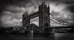 Tower Bridge by Day (Dan H Boyle Photography) Tags: towerbridge london thames canon canondslr canon700d blackandwhite monochrome bridges bridge longexposure londonarchitecture gobe