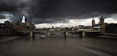 Dark Skies are Reserved (Dan H Boyle Photography) Tags: london londonarchitecture bridge thames skies clouds moody dark river canon canondslr canon700d