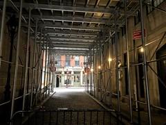 Looking upon Stone Street (Denis Gobo) Tags: newyork newyorkcity manhattan nyc nycphotographer construction stonestreet