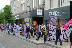 Extinction Rebellion march through Preston in climate change protest (Tony Worrall) Tags: preston lancs lancashire city welovethenorth nw northwest north update place location uk england visit area attraction open stream tour country item greatbritain britain english british gb capture buy stock sell sale outside outdoors caught photo shoot shot picture captured ilobsterit instragram photosofpreston urban candid people person picturesinthestreet photosofthestreet protest rebel street climate saturday extinctionrebellion march climatechangeprotest fishergate slogan banner