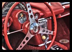 Corvette Classic : Dashboard (Pearce Levrais Photography) Tags: corvette antique classic dashboard steering wheel auto automobile sport sportscar sony a7r3 hdr