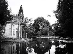 6064 - Pond (Diego Rosato) Tags: pond stagno giardino inglese english garden rovine ruins parck reggia realm palazzo reale royal palace fuji x30 rawtherapee bianconero blackwhite parco caserta