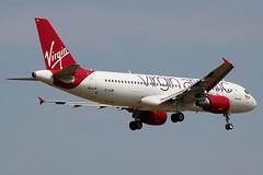 "EI-EZW | Airbu A320-214 | Virgin Atlantic ""Rosie Lee"" (cv880m) Tags: london heathrow lhr egll uk gb aviation airliner airline aircraft airplane jetliner airport spotting planespotting eiezw airbus a320 320200 320214 vir virgin virginatlantic rosielee littlered"