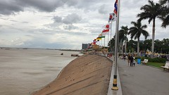 Waterfront at Phnom Penh, where the Tonle Sap meets the Mekong and the Bassac Rivers.