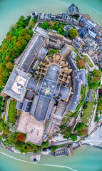 Mont Saint Michel from Above (Trey Ratcliff) Tags: france montsaintmichel stuckincustomscom treyratcliff lemontsaintmichel normandie normandy church cathedral chapel religion monastery architecture roof island hdr aurorahdr dji phantom 4 pro