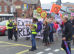 Extinction Rebellion march through Preston in climate change protest (Tony Worrall) Tags: preston lancs lancashire city welovethenorth nw northwest north update place location uk england visit area attraction open stream tour country item greatbritain britain english british gb capture buy stock sell sale outside outdoors caught photo shoot shot picture captured ilobsterit instragram photosofpreston urban candid people person picturesinthestreet photosofthestreet protest rebel street climate saturday extinctionrebellion march climatechangeprotest slogan banner