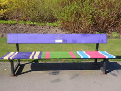Colourful bench, Seaton Park, Abderdeen (luckypenguin) Tags: scotland aberdeen seatonpark park