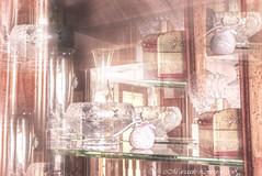 Glass vases and little shoe (mariasolelombardophotography) Tags: glass window interior design vase ballet shoes cupboard still life craftsmanship venice venetian reflection mirror digital manipulation indoors antique ancient vintage imagination old murano stunning poetry magic light beautiful shelf home house furniture transparent decoration nostalgic treasury bright atmosphere lighting