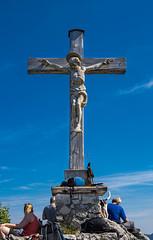 """Cross on the summit of """"Little Sonnstein"""" (harald152) Tags: traunkirchen traunsee lake see summit gipfel kreuz cross christ mountain berg sonnstein kleiner little ebensee upper austria alpensee"""