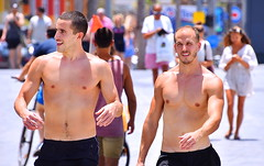 On The Boardwalk (Alan46) Tags: hunk stud handsome sexy muscular muscles masculine pecs torso abs nips nipples armpits pits shirtless barechested barrelchested hunky beefy beefcake buffed brawny ballsy bitchin built unshaved scruff shorts man guy guapo macho telaviv israel