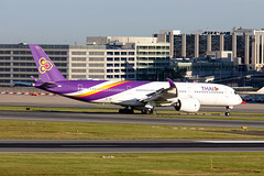 HS-THF, Airbus A350-941 of Thai  Airways. (David James Clelford Photography) Tags: hsthf airbusa350941 thaiairways ebbr bru brusselsnationalairport zaventem aircraft airplane airliner airport airbus aeroplane jet jetliner aviation civilaviation 350 a359