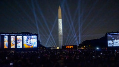 Apollo 11 on the Washington Monument (Tim Brown's Pictures) Tags: washingtondc nationalmall washingtonmonument smithsonian nationalairandspacemuseum fiftynineproductions 59productions apollo1150thanniversary event show projections saturnvrocket night crowds crowd people spectators spaceexploration july201969 july202019 goforthemoon apollo50 washington dc unitedstates