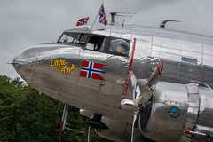 Nose Detail, Douglas DC-3A, 268823, LN-WND, Little Egypt, Flying Legends (Peter Cook UK) Tags: aircraft dc aviaition douglas flying airshow air 3 dc3a 268823 dakota show egypt little legends 2019 lnwnd duxford