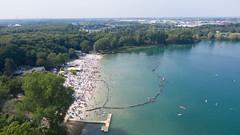 Luftbild vom Fühlinger See in Köln, Deutschland