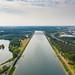Blick auf die Regattabahn am Fühlinger See in Köln, Deutschland