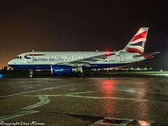 British Airways G-EUPY HAJ at Night (U. Heinze) Tags: aircraft airlines airways airplane planespotting plane olympus omd eddv em1markii flugzeug night flugzeuge haj hannoverlangenhagenairporthaj
