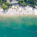 Blackfoot Beach und Badebereich am Fühlinger See in Köln, Deutschland