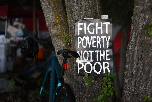 Camp Here : Occupy to Overcome protest in support of homeless individuals. July 2019