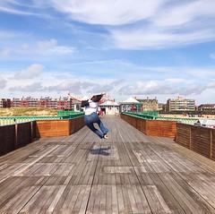 Jump! (Coxar) Tags: lancashire stannes pier jumping jump