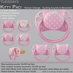 Tuesdays Kitty Paci (Tuesdays Designs) Tags: tuesdays paci pacifier binky babygirl