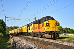 37099 t&t 37521 - Queen Adelaide - 28/06/19. (TRphotography04) Tags: colas rail freight 37099 merl evans 1947 2016 37521 with dbso 9701 sandwiched between throttle up past queen 1q99 1644 cambridge reception roads march down rs network test train adelaide