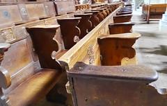 silleria del Coro interior Iglesia de San Pedro y San Pablo Catedral catolica Berna Suiza (Rafael Gomez - http://micamara.es) Tags: silleria del coro interior iglesia de san pedro y pablo catedral catolica berna suiza
