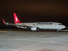 Turkish Airlines TC-JHD HAJ at Night (U. Heinze) Tags: aircraft airlines airways airplane planespotting plane olympus omd em1markii 12100mm haj hannoverlangenhagenairporthaj flugzeug eddv night nightshot