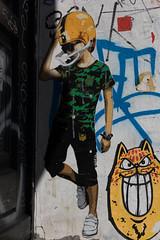 Schanzenviertel (michael_hamburg69) Tags: hamburg germany deutschland streetart urbanart graffiti schanze schanzenviertel pasteup wheatpaste artist künstler marshalarts baseball boy karlo yello gelb cat katze kater photowalkmitingridlowis unterwegsmitingrid
