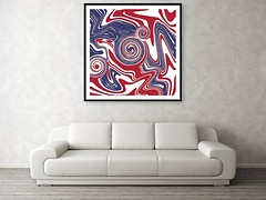 american-flag-as-abstract-art-patricia-piotrak (MisQueArt) Tags: fluidpainting pattern liquid randompattern unique painting colorful brightcolors picturecomposition interiordesignerart abstractart modernpainting americanflag blue red white