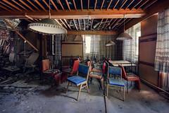 (franconiangirl) Tags: hotel abandoned decay derelict marode urbanwandering urbanexploring urbanexploration vergessen forgotten ehemalig stühle gastraum restaurant abandoneé