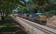 CSX G102-18 at CP North End Waxhaw (Travis Mackey Photography) Tags: csx g102 waxhaw nc monroe sub gevo train railroad locomotive trees grass sky