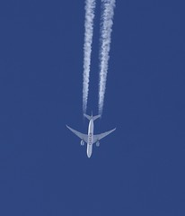 Qatar Airways Cargo Boeing 777-FDZ (Deanster1983 who's mostly off) Tags: a7bff lggord 777fdz 777 aircraft trail aviation contrail jet airline vapour photo boeing freighter freight cargo airways qr8139 qtr8139 qatar