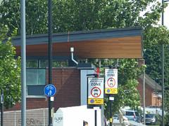 Longbridge Station reopened with a new building (ell brown) Tags: longbridge birmingham westmidlands england unitedkingdom greatbritain longbridgelane longbridgestation longbridgeln crosscityline electrifiedrailwayline tessalllane westmidlandsrailway westmidlandstrains renovation refurbishment bus nxwm nationalexpresswestmidlands 45