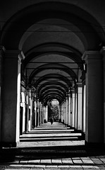 I portici di Torino (Sara Siclari) Tags: torino turin portici piazza passeggiare walking blackandwhite light luce biancoenero città urban