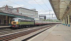 BR Standard Class 7  70000 Britannia and 47501 carrying number D1944 on the rear of Saphos Trains The Welsh Marches Express 1Z12 1623 Cardiff - Crewe at Newport 20.07.2019 (2) (The Cwmbran Creature.) Tags: british rail class train trains railway 47 tour railtour wales marches